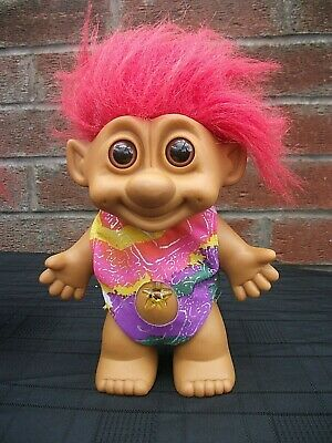 """Vintage Troll Doll 6.5""""tall Unique super mystery 5 fingers toes,Star wish stone"""