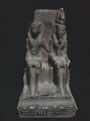 Ancient Egyptian Antiques Statue Ramses Ii With Queen Nefertari 1279-1213 Bc