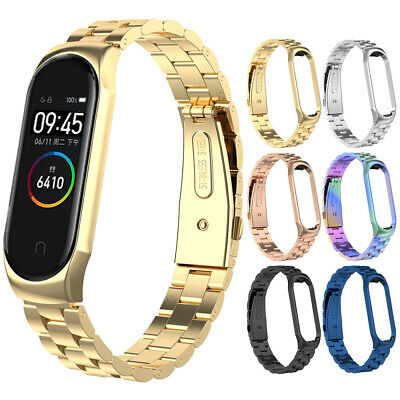 For Xiaomi Mi Band 4 2019 Metal Stainless Steel Replacement Wrist Strap