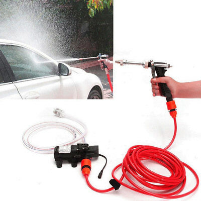 Portable 12V Car High Pressure Washer Water Pump Kit Jet Wash Cleaner Hose UK