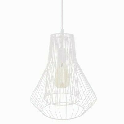 "Lampe Suspension Métal ""Fils"" 35cm Blanc"