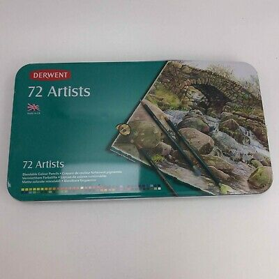NEW DERWENT 72 Artists Blendable Coloured Pencils In Tin SU182030