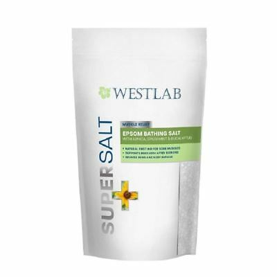 WestLab SuperSalt Muscle relief Epsom bain de sel 1 kg 1 2 3 6 12 Packs