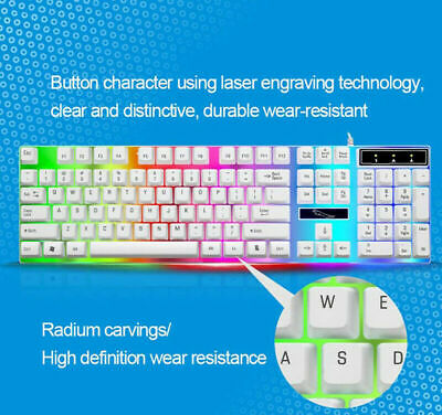 Pro Keyboard Mouse Set Adapter for PS4/PS3/Xbox One And 360 Gaming Rainbow White