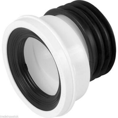 TOILET PAN WC Soil Connector Dry Gasket 102/120 mm Rubber seal for