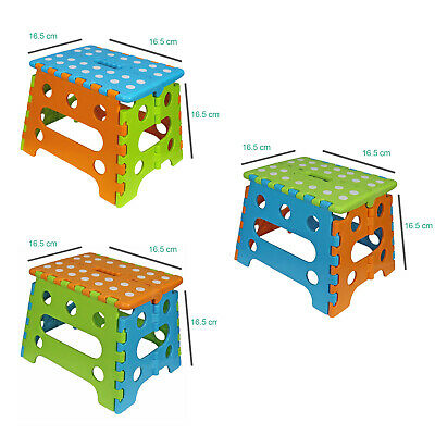 Kids Child Toddler Folding Step Stool Plastic Foldable Chair Footstool Handle
