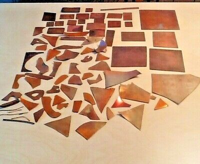 Copper for enameling/jewelry/craft Square~Rectangle~MiscShape~Flat&Bent 74+piece
