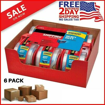 Scotch Heavy Duty Shipping Packaging Tape 1.88 Inches X 800 inches 6 Rolls Clear