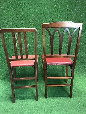 VINTAGE LEG-O-MATIC FOLDING CHAIRS BY LORRAINE INDUSTRIES Lot of 2