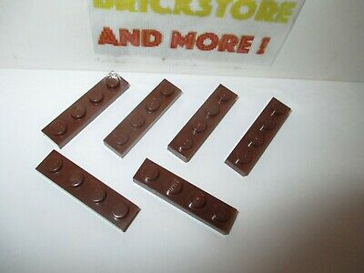 Lego 10x plaque plate 1x4 4x1 3710 reddish brown//marron//braun