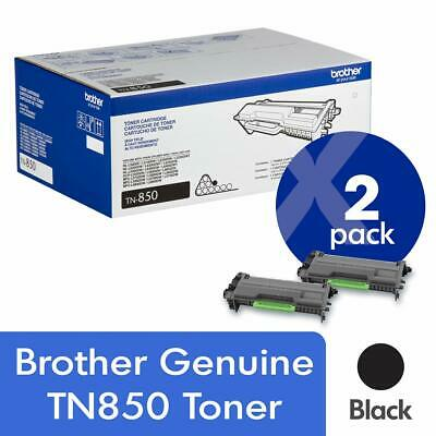 Brother Genuine Tn850 2-Pack High Yield Black Toner Cartridge With Approximately