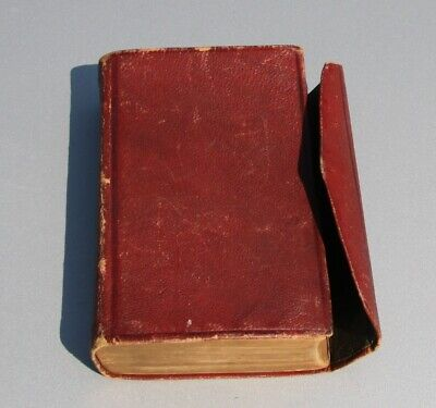 Antique 1873 red leather Old and New Testament Holy Bible very nice