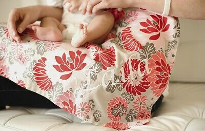 Udder Covers Nursing Cover Floral Print Flowers Pink Red Tan