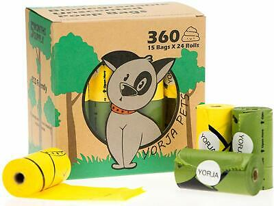 Dog Poo Bags 24 Rolls 360 Pooh Bags Extra Thick Strong Leak Poop Biodegradable