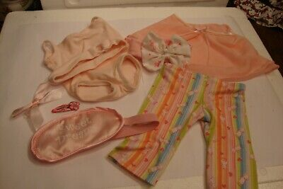 American Girl Doll Outfits - Pj's, one piece outfit, Sweet Dreams mask, cape