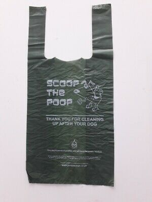 Dog Poo Bags Large Thick Strong Green Oxo-Biodegradable Dog Poop Waste Bags