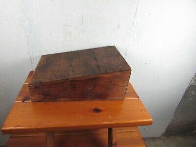 Lap Desk Antique Portable Dovetail Sloped Clerks  Writing / Stationary