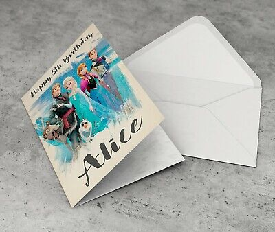 FROZEN Personalised Birthday Card Girls Daughter Granddaughter Niece Friend Sis