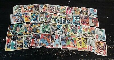 1966 Batman Trading Card Lot TOTAL OF 96 CARDS!! 32 Black, 58 Red & 6 Blue