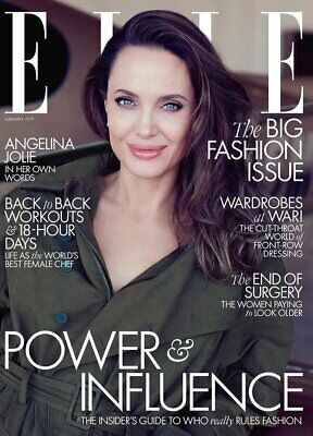 UK ELLE Magazine September 2019: ANGELINA JOLIE COVER AND FEATURE