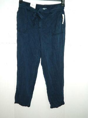 Style&co Women's Blue Straight Leg Mid Rise Pants NWT Size 12 X 29 A2