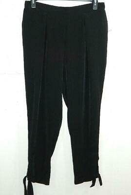 NY Collection Women's Plus Black Tapered Tie Hem Pants NWT Size 1X X 26 A2
