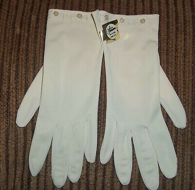 Vintage Stetson Ladies Gloves Ivory One Size NOS in Box Delicate Stretch Nylon