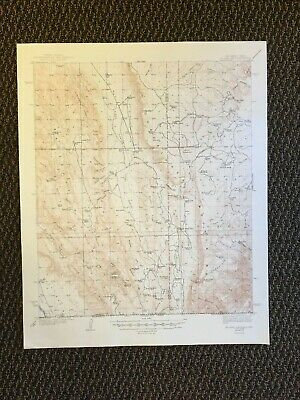 Vintage USGS El Paso Gap New Mexico Texas 1940 Topographic Map 1948