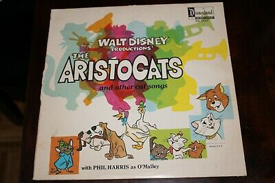 Walt Disney The Aristocats And Other Cat Songs Lp Vinyl Record © 1970