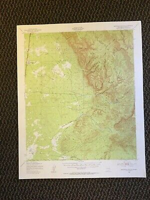 Vintage USGS Escondido Canyon New Mexico 1950 Topographic Map