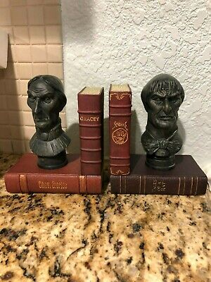 Disney Parks HAUNTED MANSION Bust BOOKENDS Set Of 2 NEW IN BOX