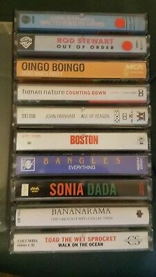 10 Excellent  collectible Cassettes In Plastic Box