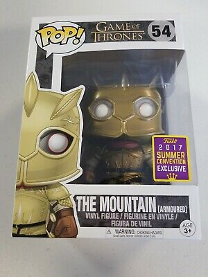 Funko Pop Game of Thrones The Mountain Armoured #54 SDCC Exclusive W/Protector