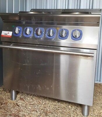 Electrolux 4 hot plate commercial oven Mod E7ECEH4REO