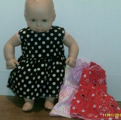 Doll clothes-fits Bitty Baby Doll-Lot of 3-Dots +