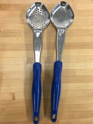 Vollrath Heavy Duty Spoodle Spoons Utensils Round Bowl Perforated & Solid 2 Oz