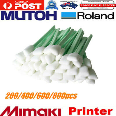 200/400/600/800pcs x Solvent Foam Cleaning Swabs For Mutoh Roland Mimaki Printer