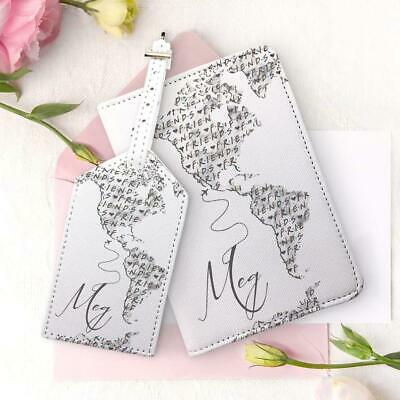 Friends World Map Passport Holder And Luggage Tag Travel Set Map Document Wallet