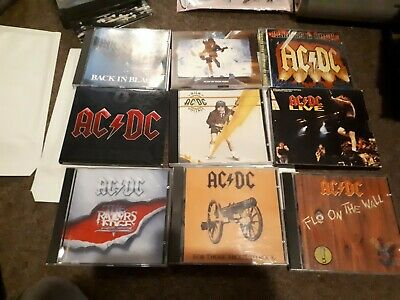 8 X Ac/Dc Cd Albums  Back In Black,Fly On The Wall,High Voltage,Live About Rock
