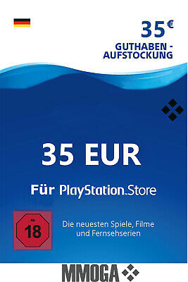 35€ PSN DE Playstation Network Code Card - 35 Euro PS4, PS3, PS Vita Guthaben