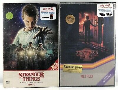 Stranger Things Season 1 & 2 Blu-ray + UHD 4K Target Exclusive VHS Packaging