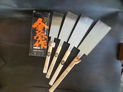 Set of four Japanese Ryoba Pull Saws by Kinzo, 210, 240, 279 and 295mm