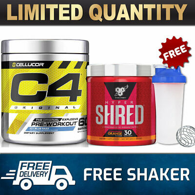 Cellucor C4 Id 60 Serves Pre Workout Bsn Hyper Shred 60 Srv Thermogenic Fat Burn