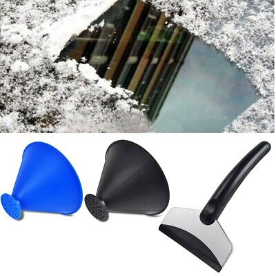 Windshield Snow Scraper Outdoor Auto Car Funnel Cone Clean Removal Window Tool