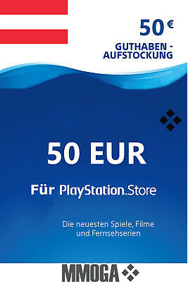 PSN Network Card 50€ EUR 50 Euro Playstation Prepaid Code PS3/4 Österreich - AT*