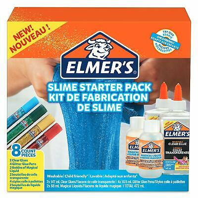 Elmer's Glue Slime Starter Kit, Clear Glue, Glitter Glue Pens and Magical Liquid