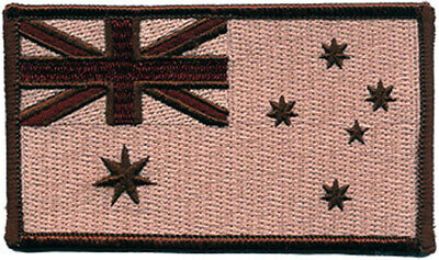 Australian Flag ANF Embroidered Patch Brown/Tan