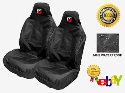 ABARTH - Pair Of Car Seat Covers Protectors x2 / Fits Fiat Abarth 500