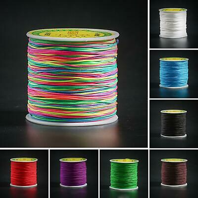 1MM 100M Nylon Chinese Knot Cord  Thread String Rattail Macrame Jewelry makin
