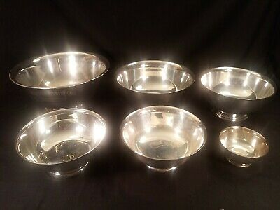 6 Silverplate Bowls Reed Barton Gorham Poole Paul Revere She Shed W Amateur Golf